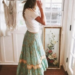 Spell & the Gypsy Vintage Turquoise Maisie Skirt